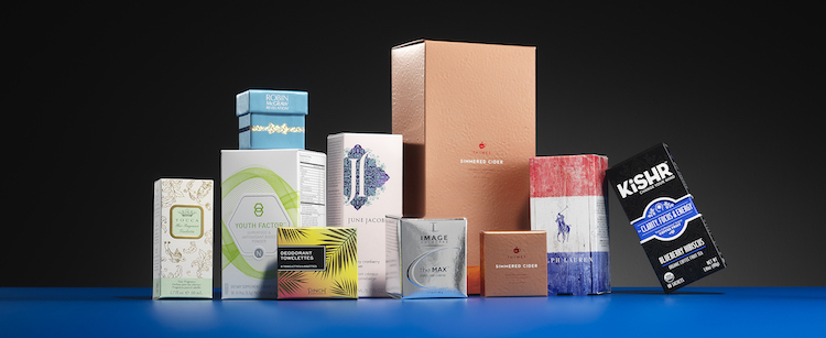 Premium folding carton packaging for spirits.