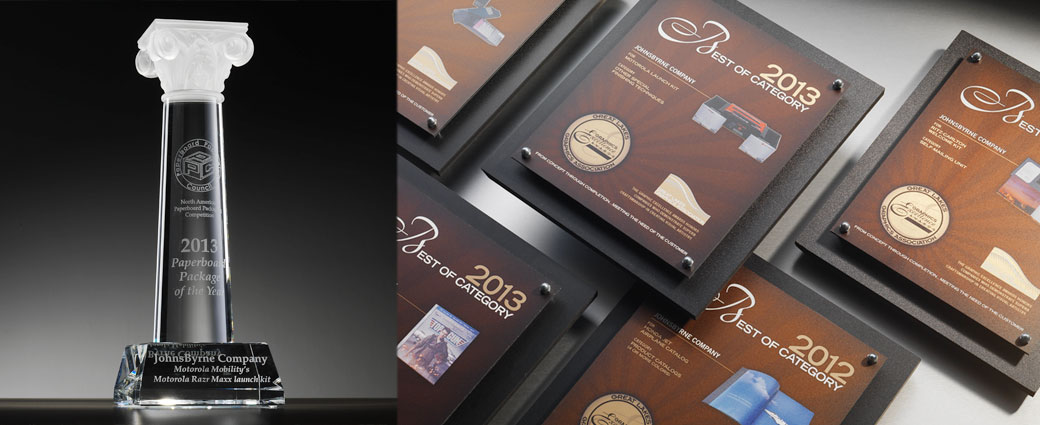Johnsbyrne is an honored recipiant of several print and packaging industry awards