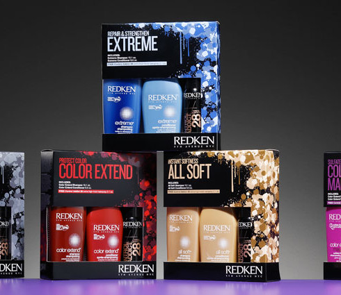 Redken beauty product packaging design