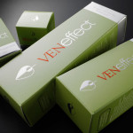 VenEffect skin care folding carton display packaging by Johnsbyrne