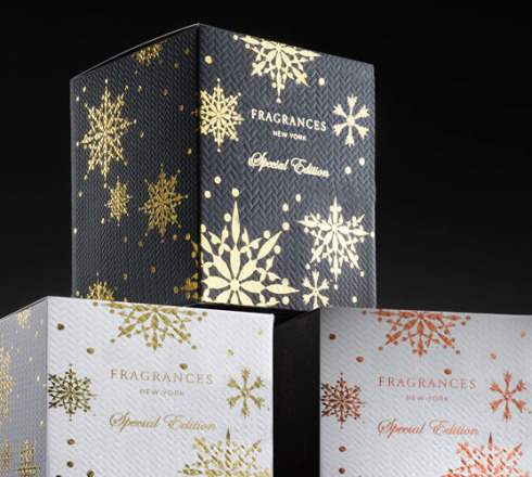 colorful packaging design with foil