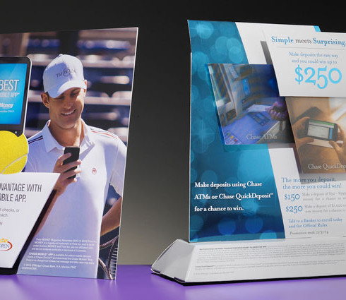 bank teller retail display packaging