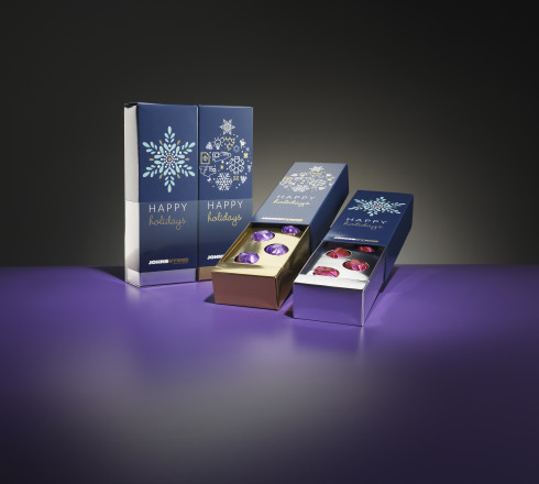 Happy holidays product packaging sample