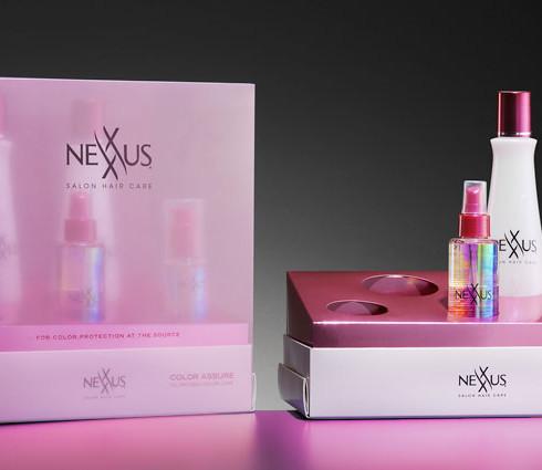 Nexus beauty product packaging