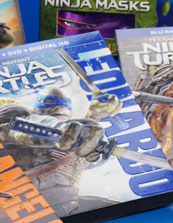 Ninja turtles DVD box design