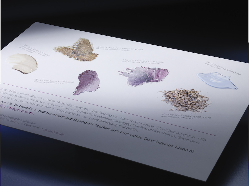 using unique textures for direct mail