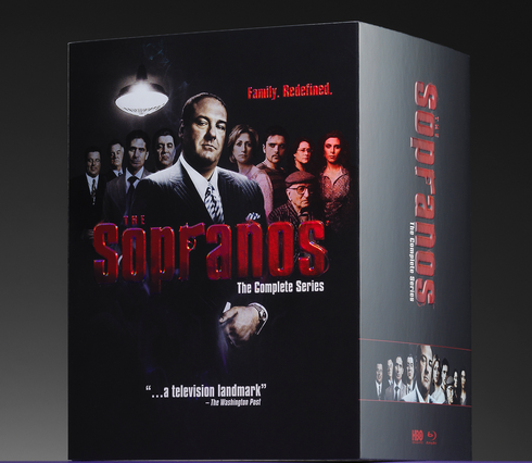 innovative product packaging for Sopranos DVD series