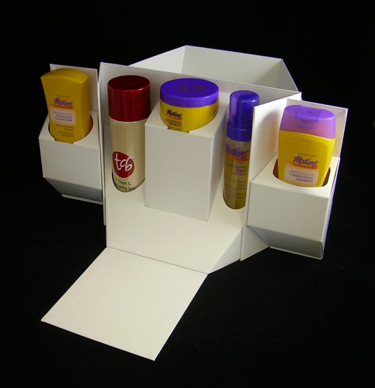 Test visual and structured folding carton packaging