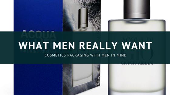 Cosmetics packaging for men
