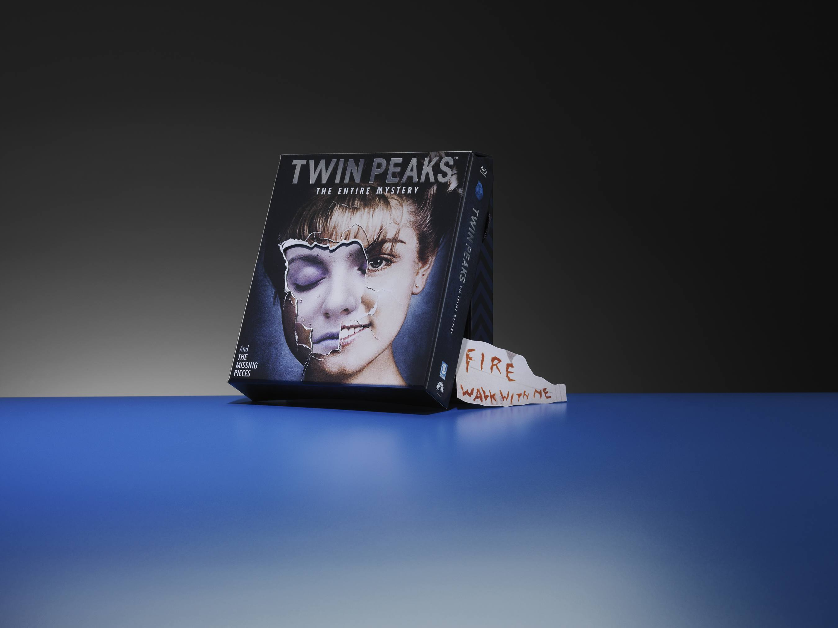 Twin Peaks packaging includes a layered technique that creates the three-dimensional effect
