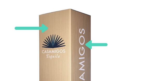 Add an emboss and use vertical wood grain deboss to create luxury cartons