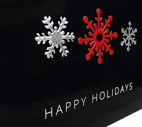 holiday card printing effects