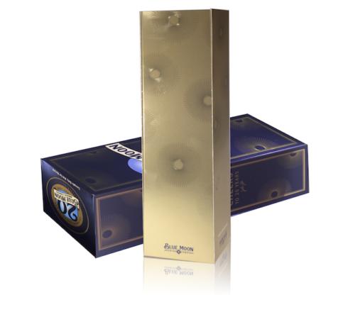 Blue Moon anniversary packaging design