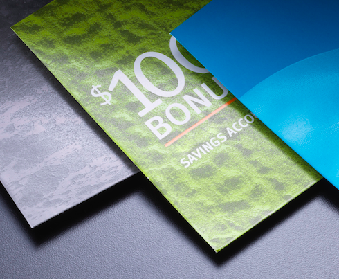 color envelopes used in direct mail pieces