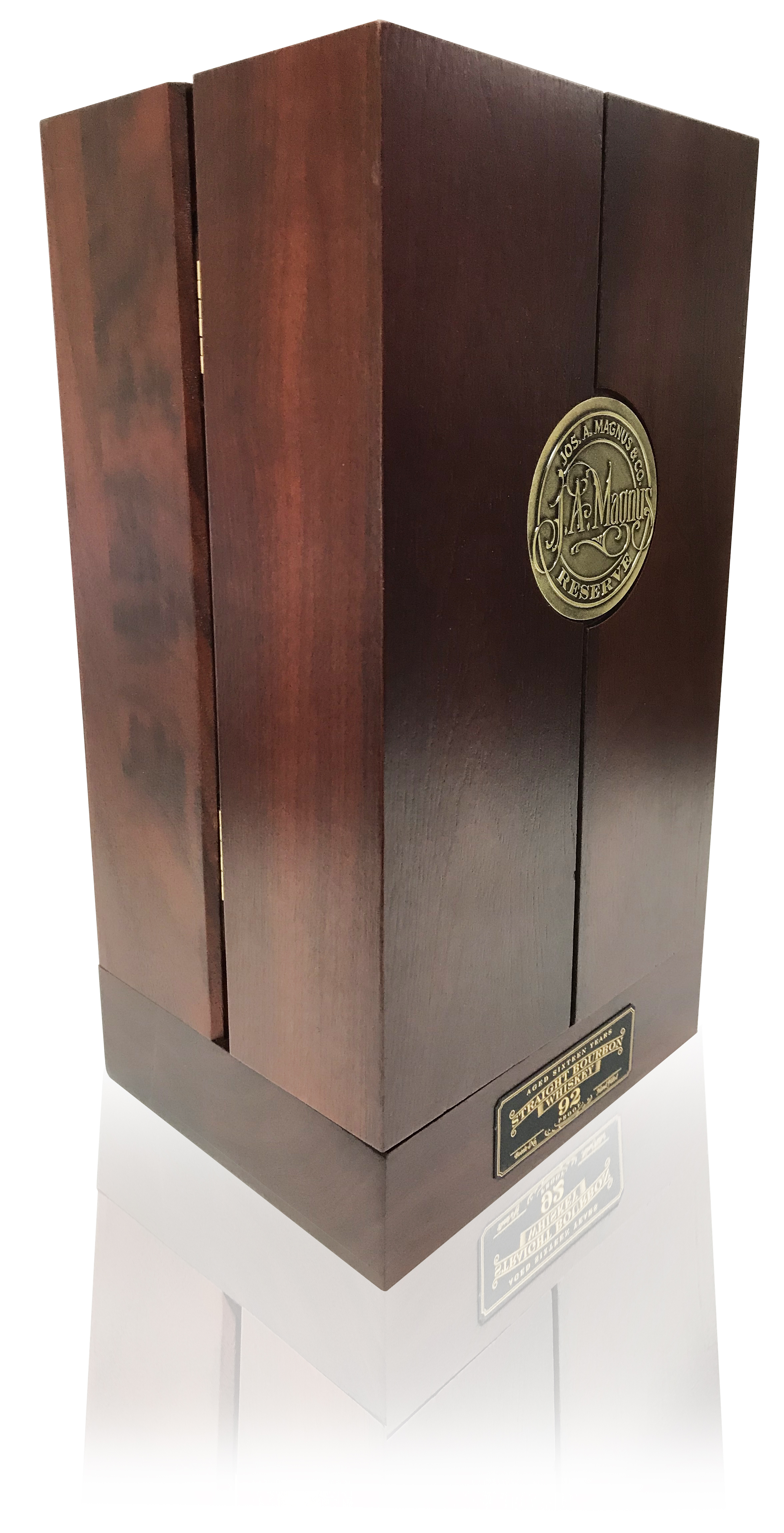 Jos A Magnus Angled Packaging Bourbon Case.