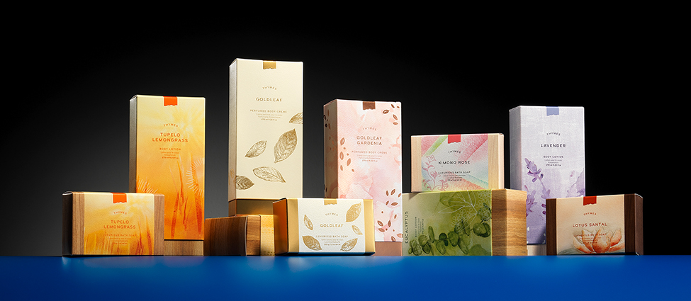 thymes cosmetic collection packaging